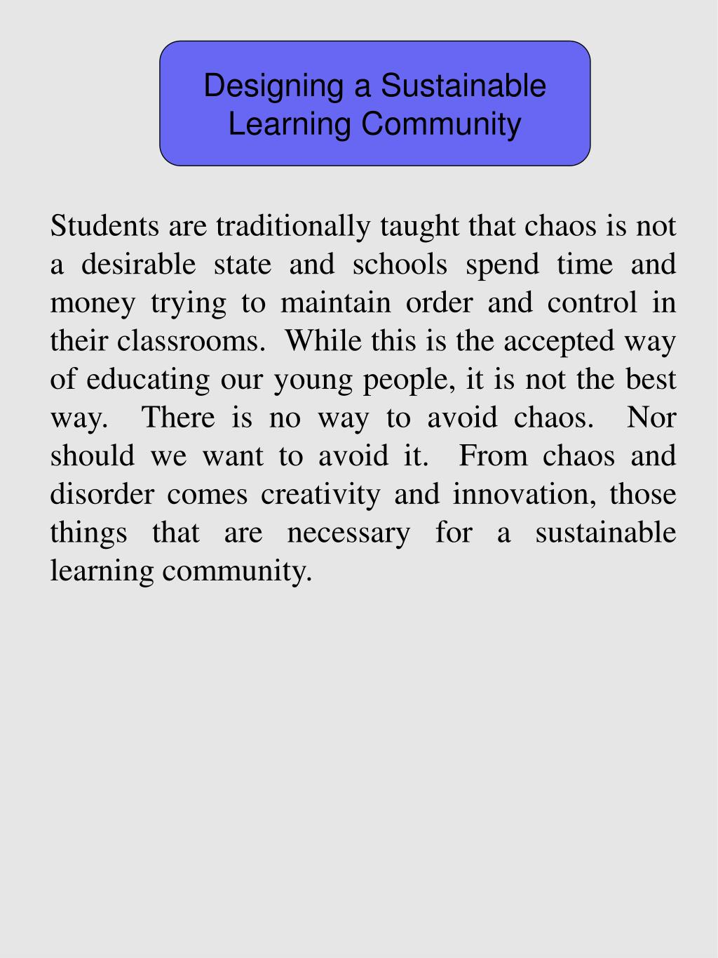 Designing a Sustainable Learning Community