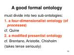 a good formal ontology