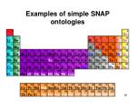 examples of simple snap ontologies95