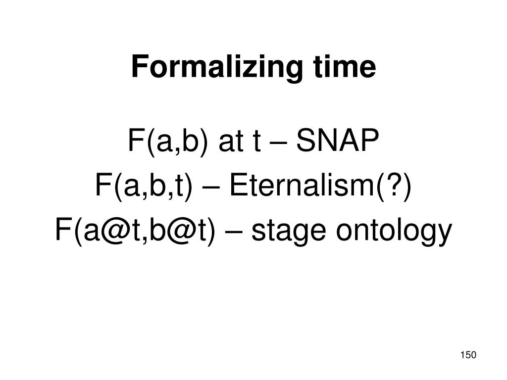 Formalizing time