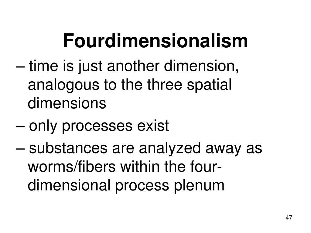 Fourdimensionalism