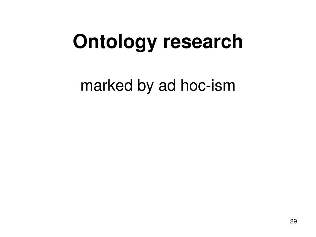 Ontology research
