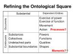 refining the ontological square175