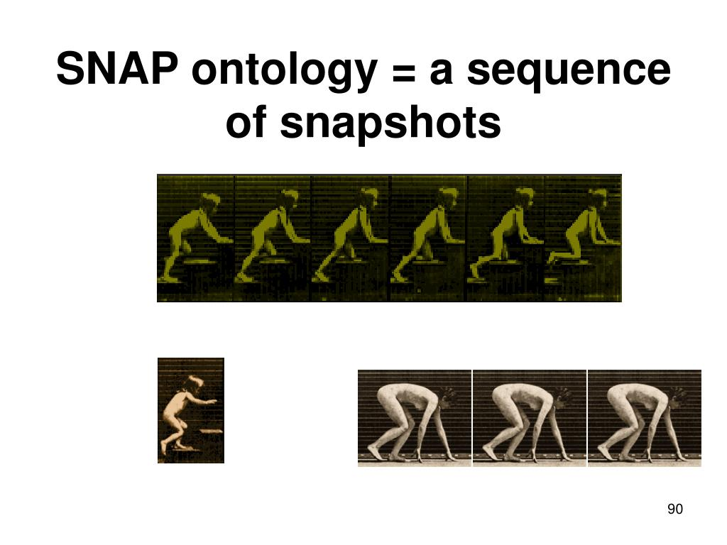 SNAP ontology = a sequence of snapshots
