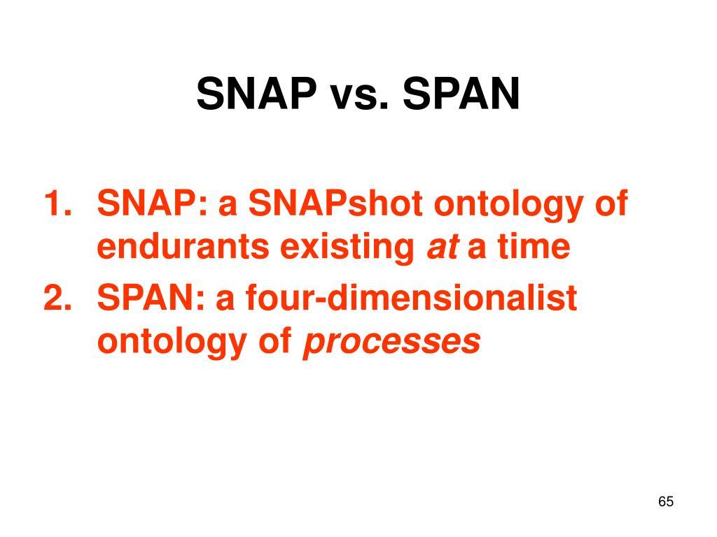 SNAP vs. SPAN