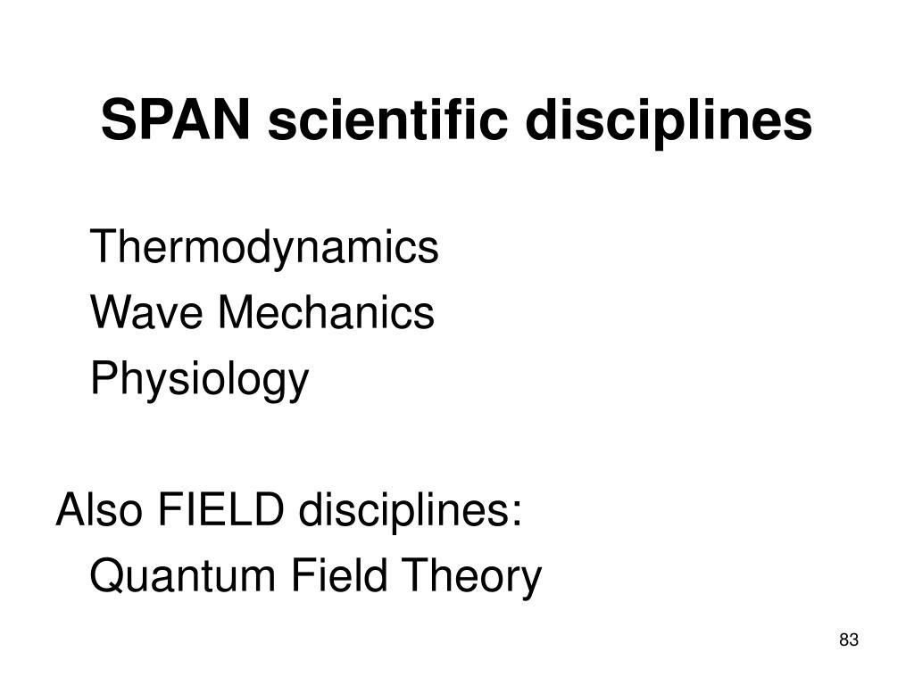 SPAN scientific disciplines