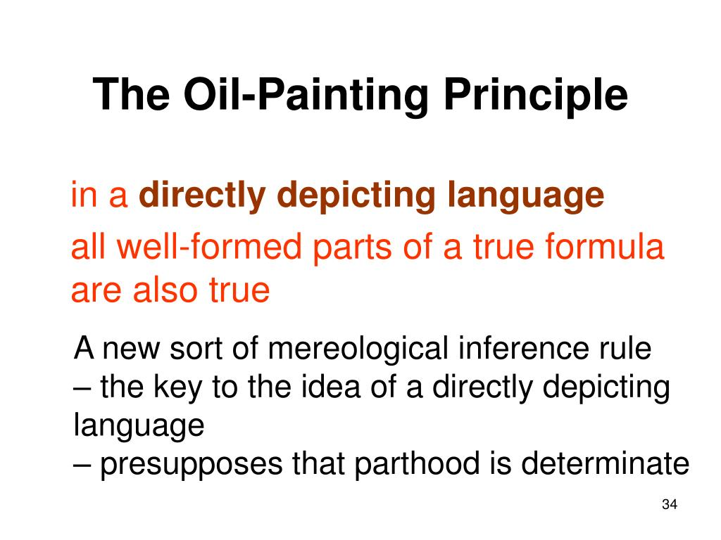 The Oil-Painting Principle