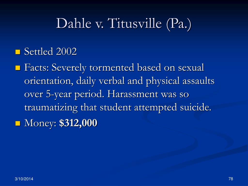 Dahle v. Titusville (Pa.)