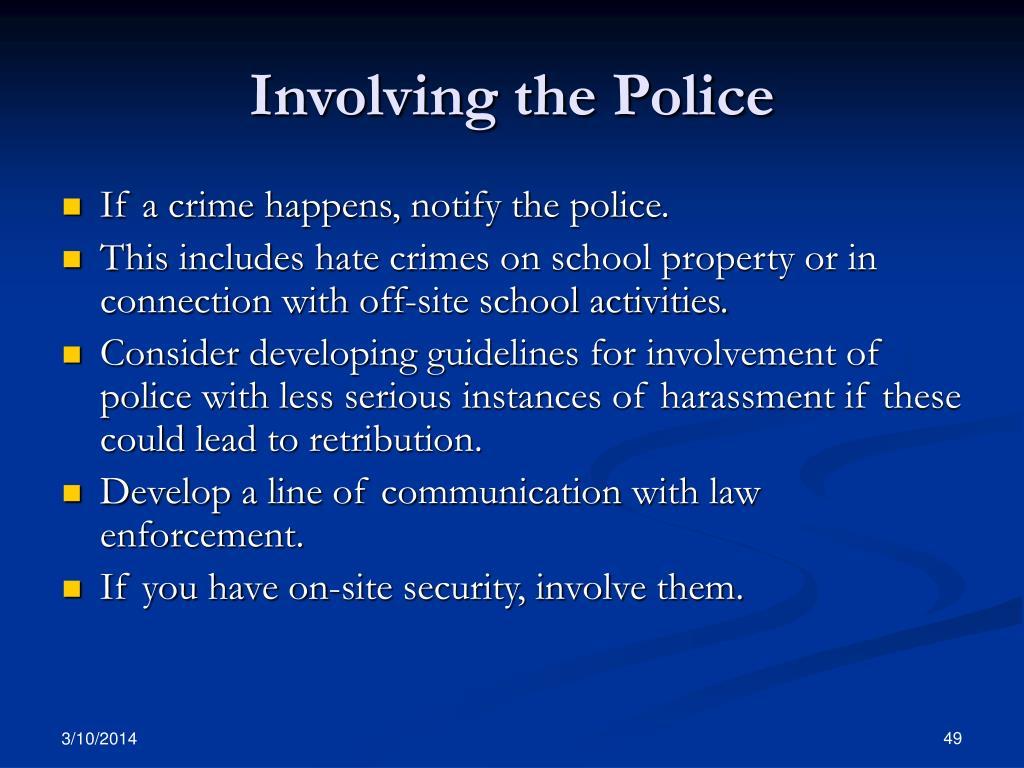 Involving the Police