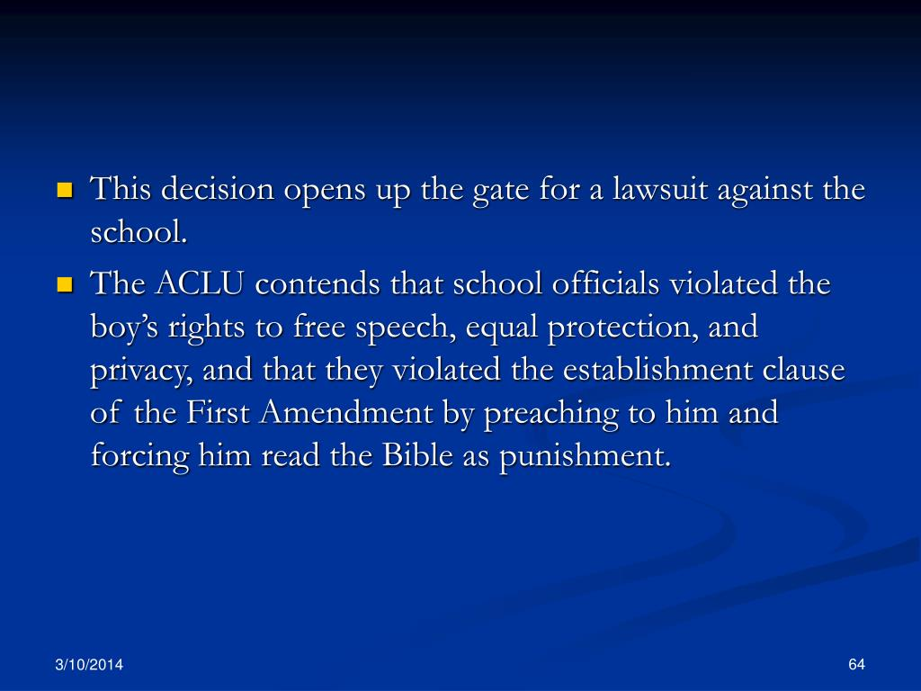 This decision opens up the gate for a lawsuit against the school.