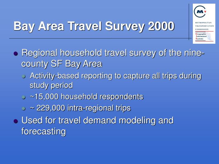 Bay area travel survey 2000