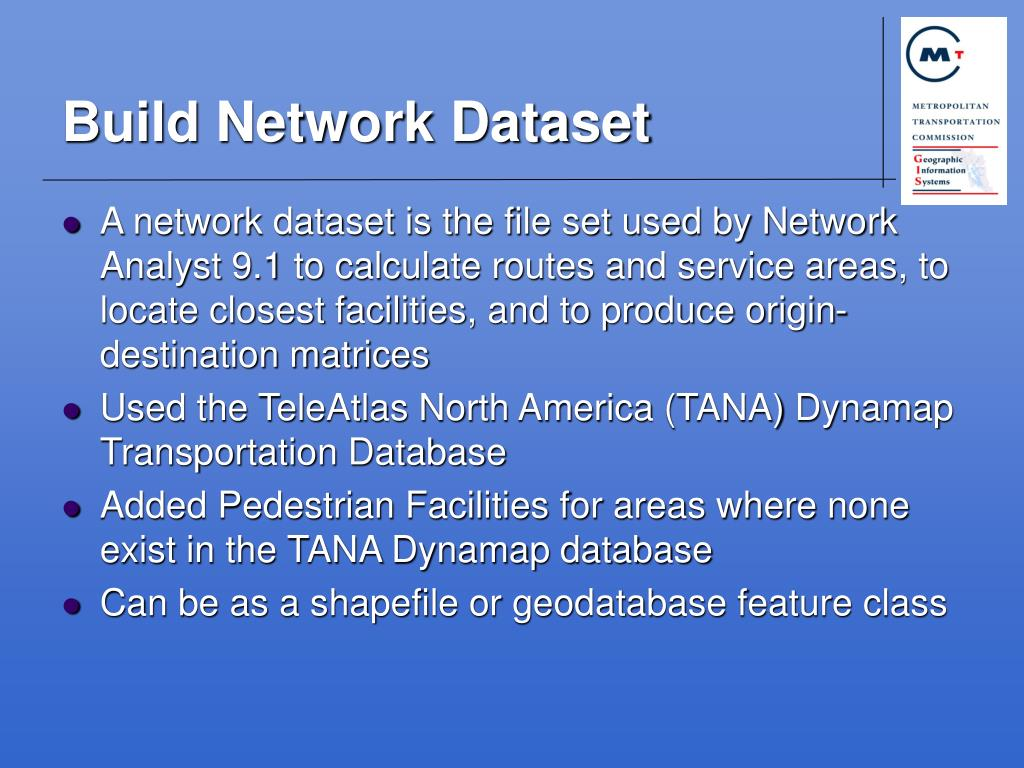 Build Network Dataset