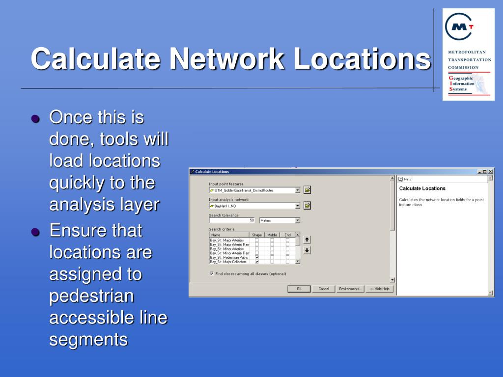 Calculate Network Locations