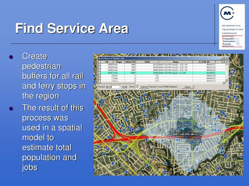 Find Service Area
