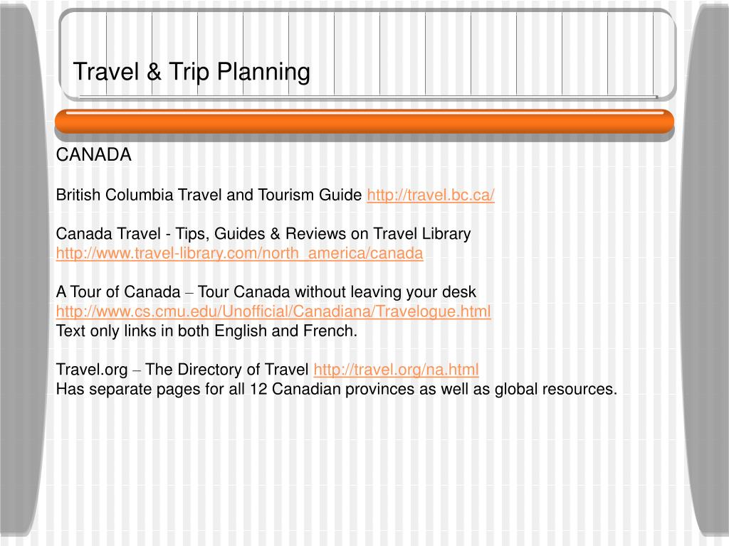 Travel & Trip Planning