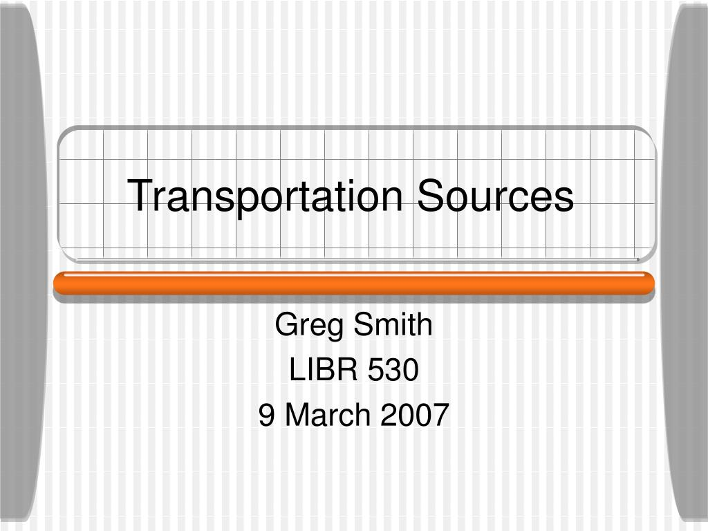 Transportation Sources