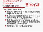 reimbursement of expenses responsibilities21
