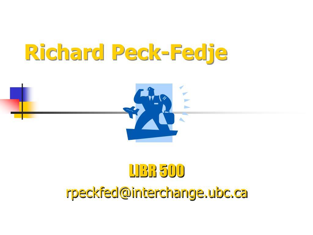 Richard Peck-Fedje