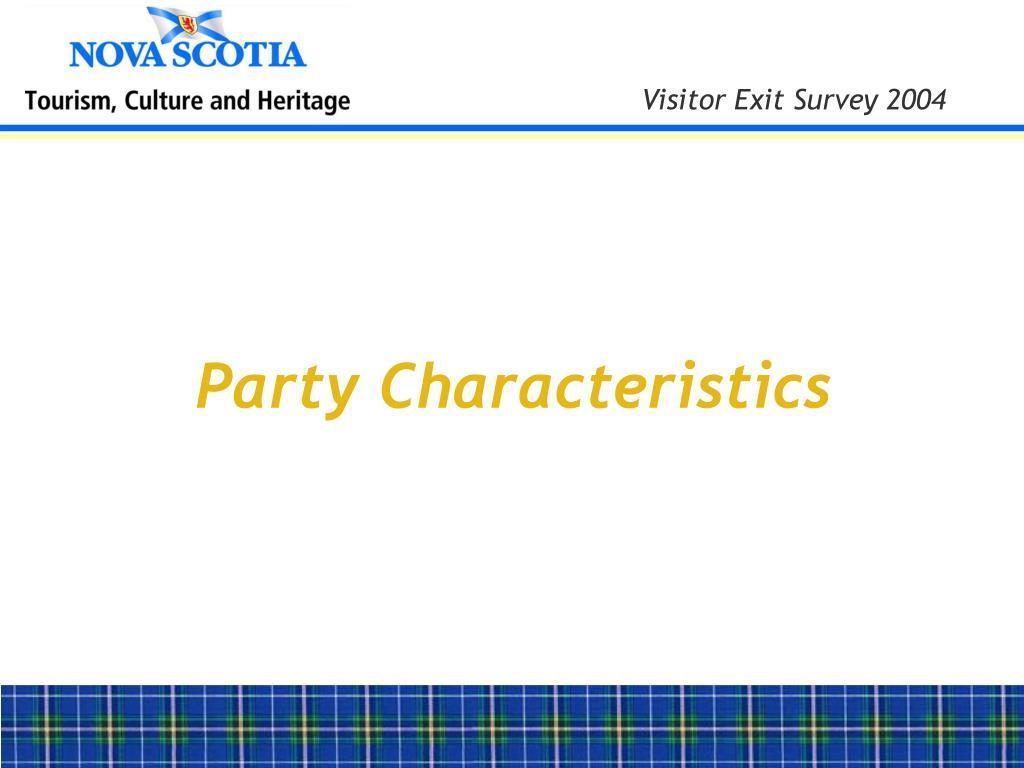 Party Characteristics