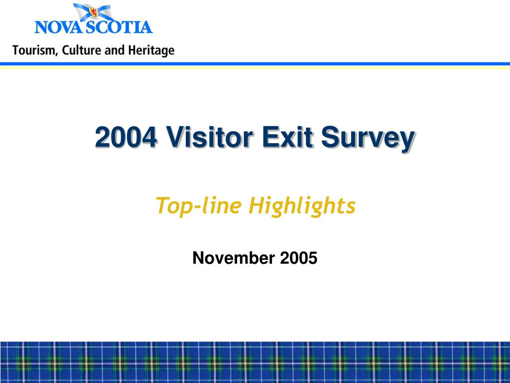 2004 Visitor Exit Survey
