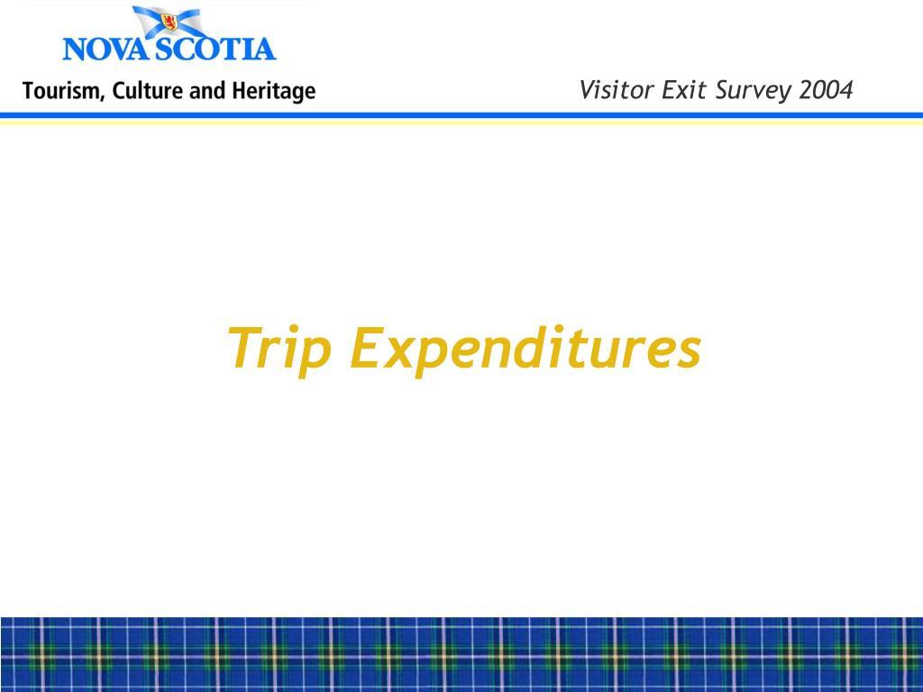 Trip Expenditures