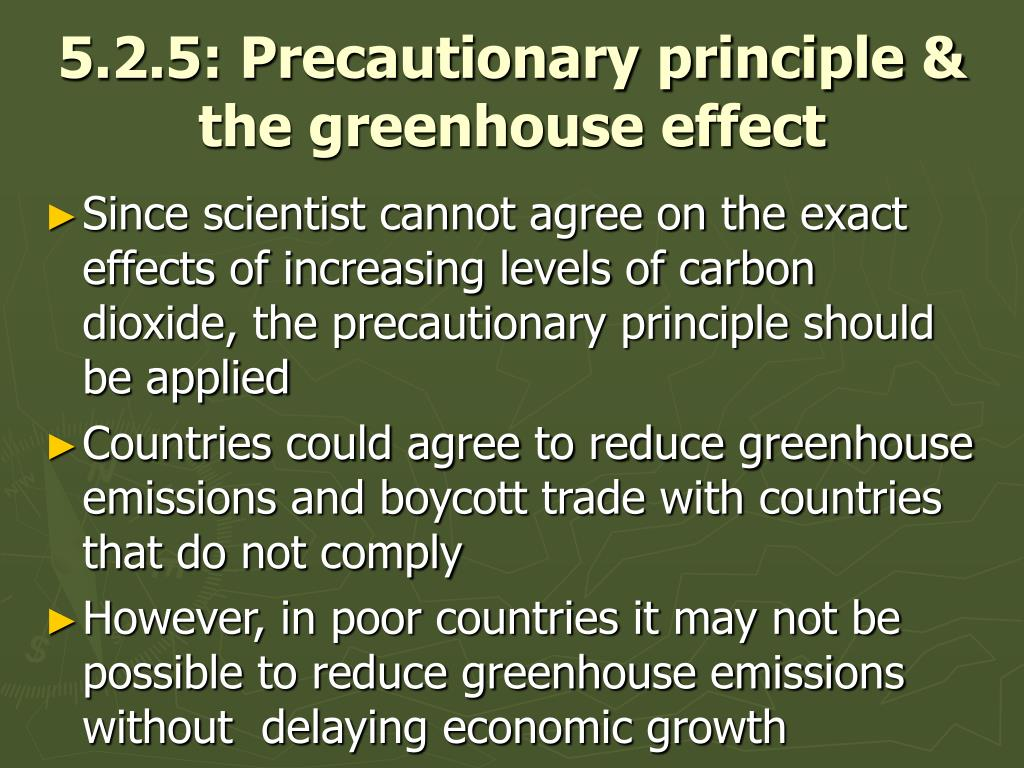 5.2.5: Precautionary principle & the greenhouse effect