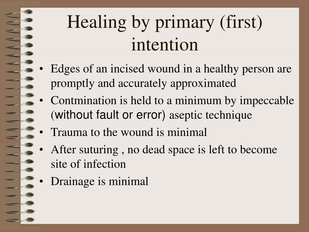 Healing by primary (first) intention