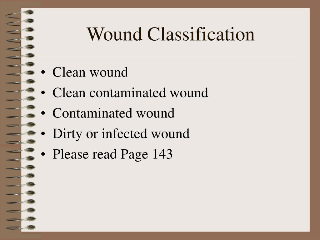 Wound Classification