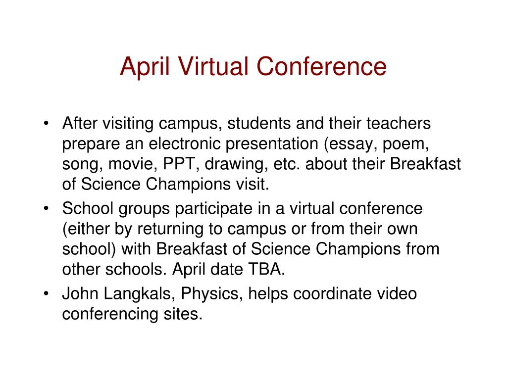 April Virtual Conference