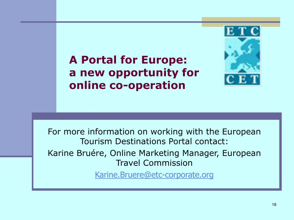 A Portal for Europe: