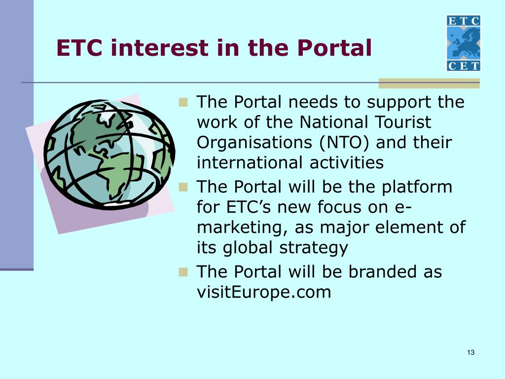 ETC interest in the Portal