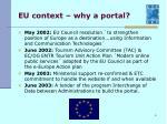 eu context why a portal