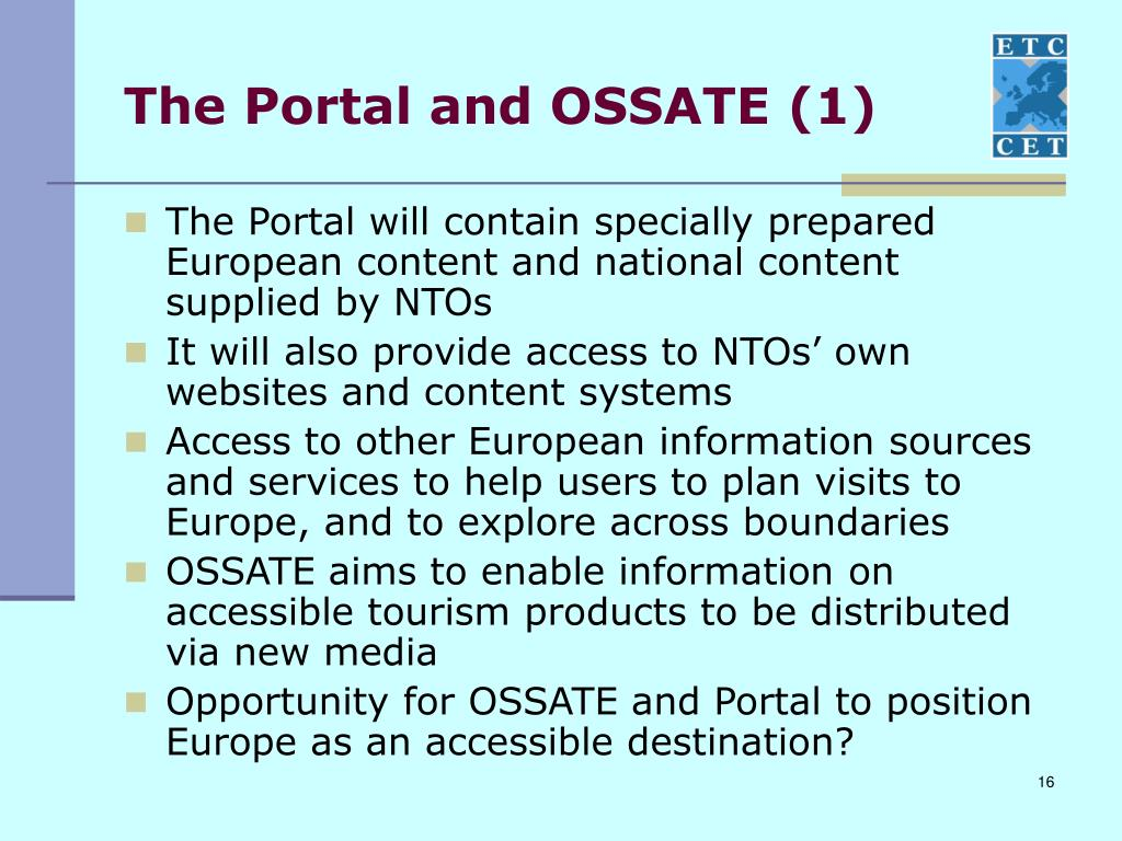 The Portal and OSSATE (1)