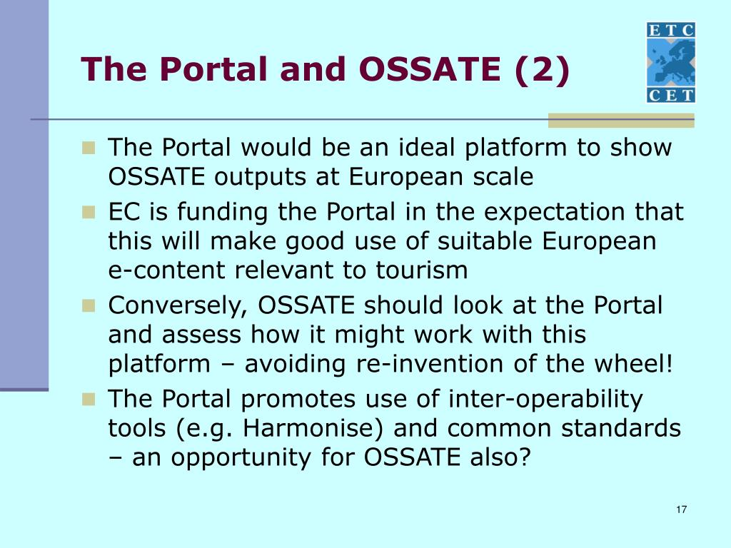The Portal and OSSATE (2)