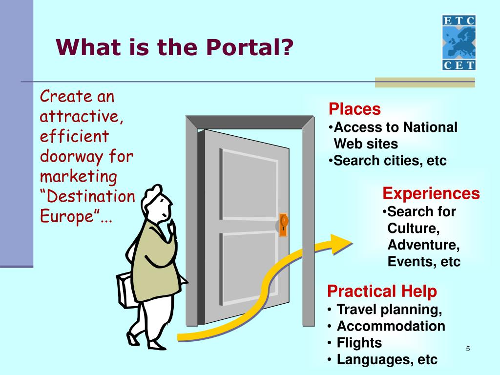 "Create an attractive, efficient doorway for marketing ""Destination Europe""..."
