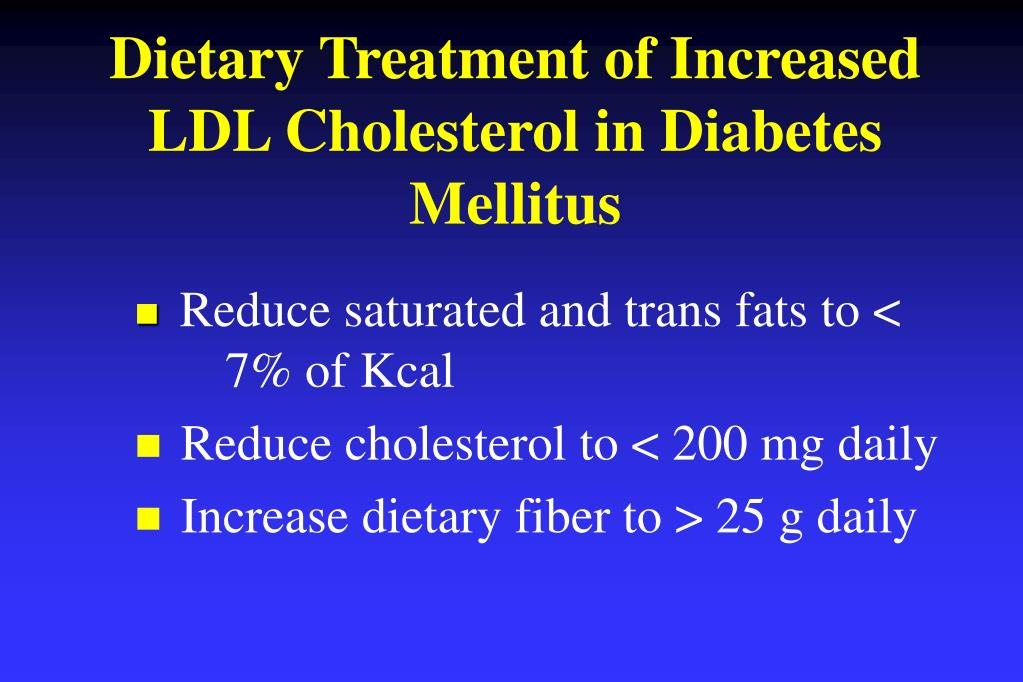 Dietary Treatment of Increased