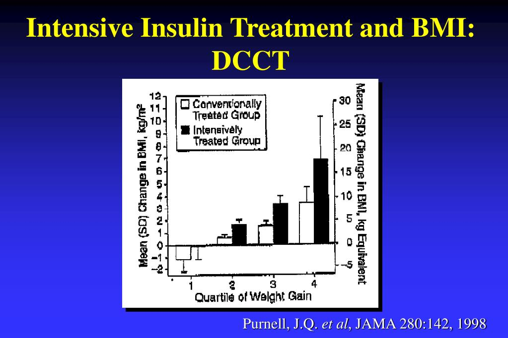 Intensive Insulin Treatment and BMI: DCCT