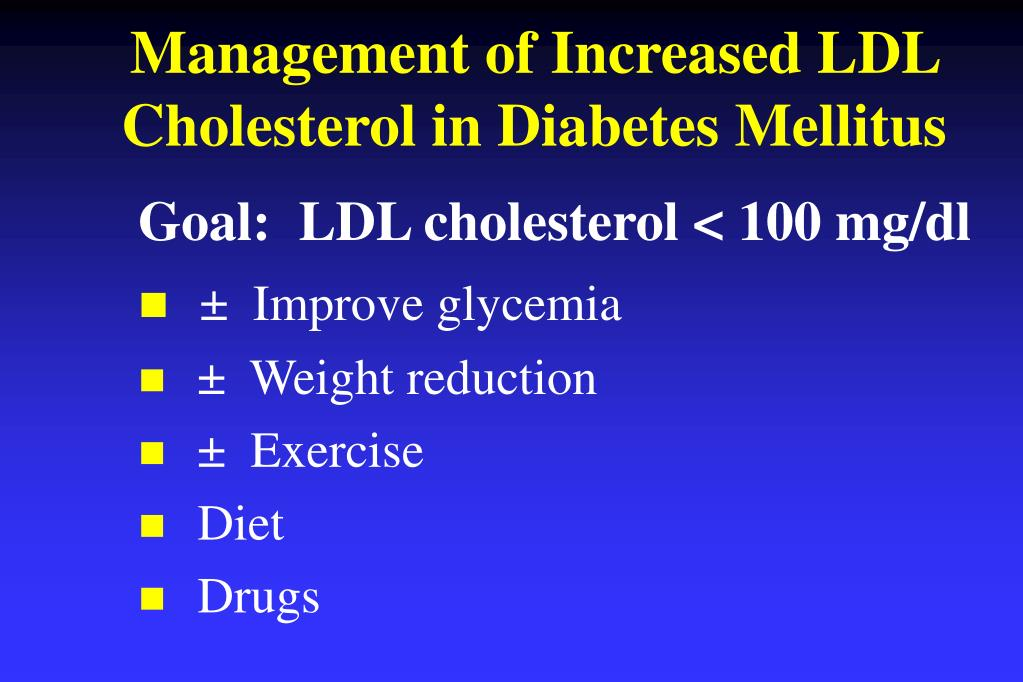 Management of Increased LDL Cholesterol in Diabetes Mellitus