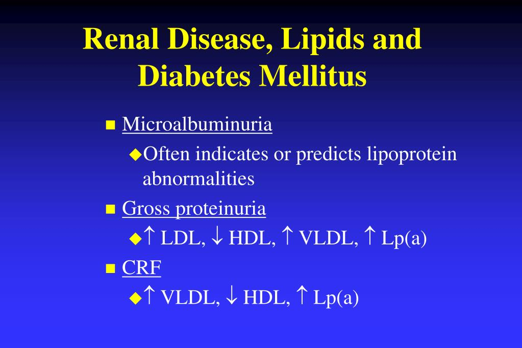 Renal Disease, Lipids and Diabetes Mellitus