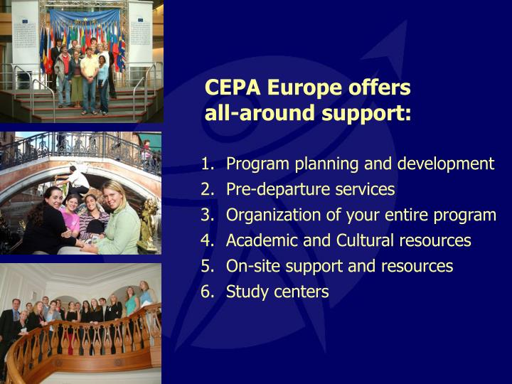 CEPA Europe offers all-around support: