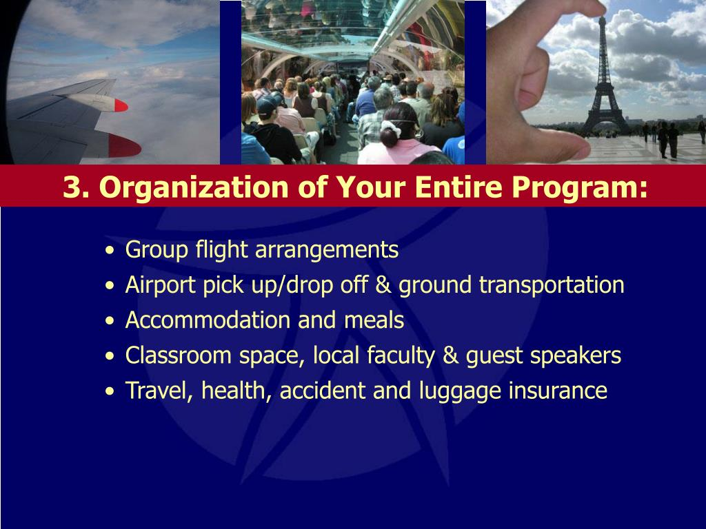 3. Organization of Your Entire Program: