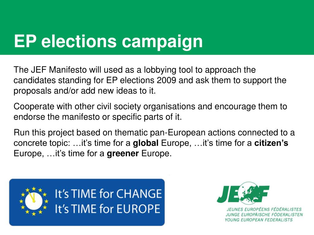 EP elections campaign