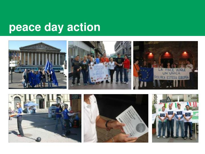 Peace day action