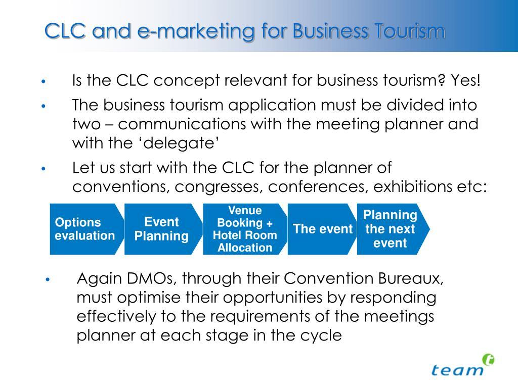 CLC and e-marketing for Business Tourism