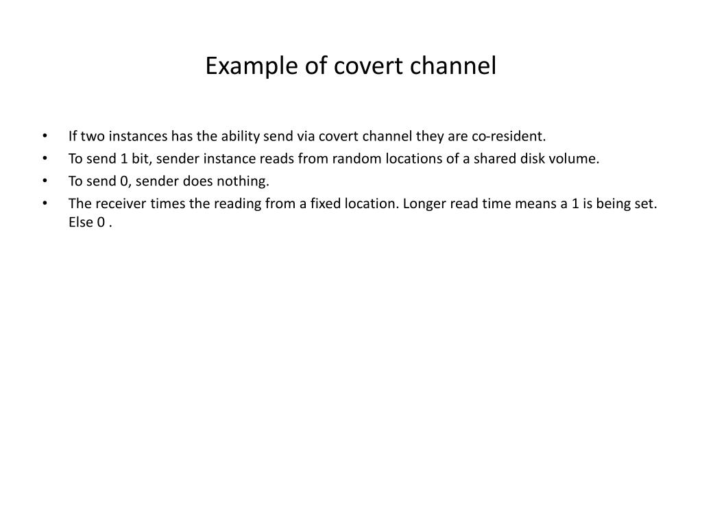 Example of covert channel