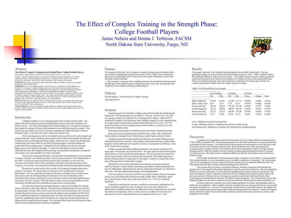 The Effect of Complex Training in the Strength Phase: