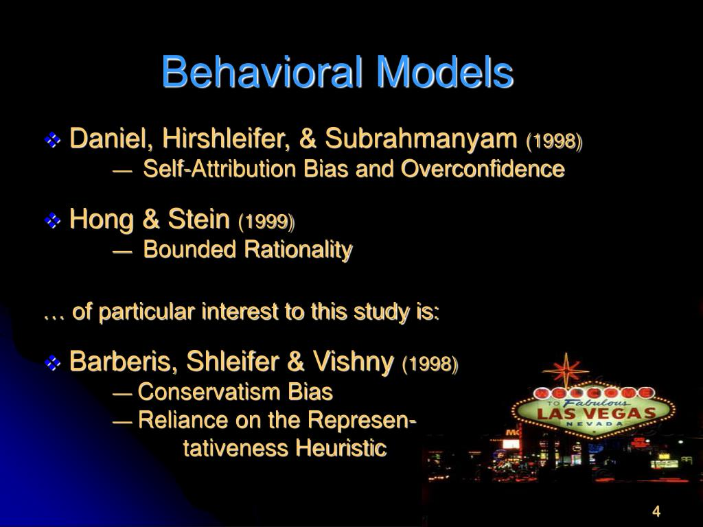 Behavioral Models