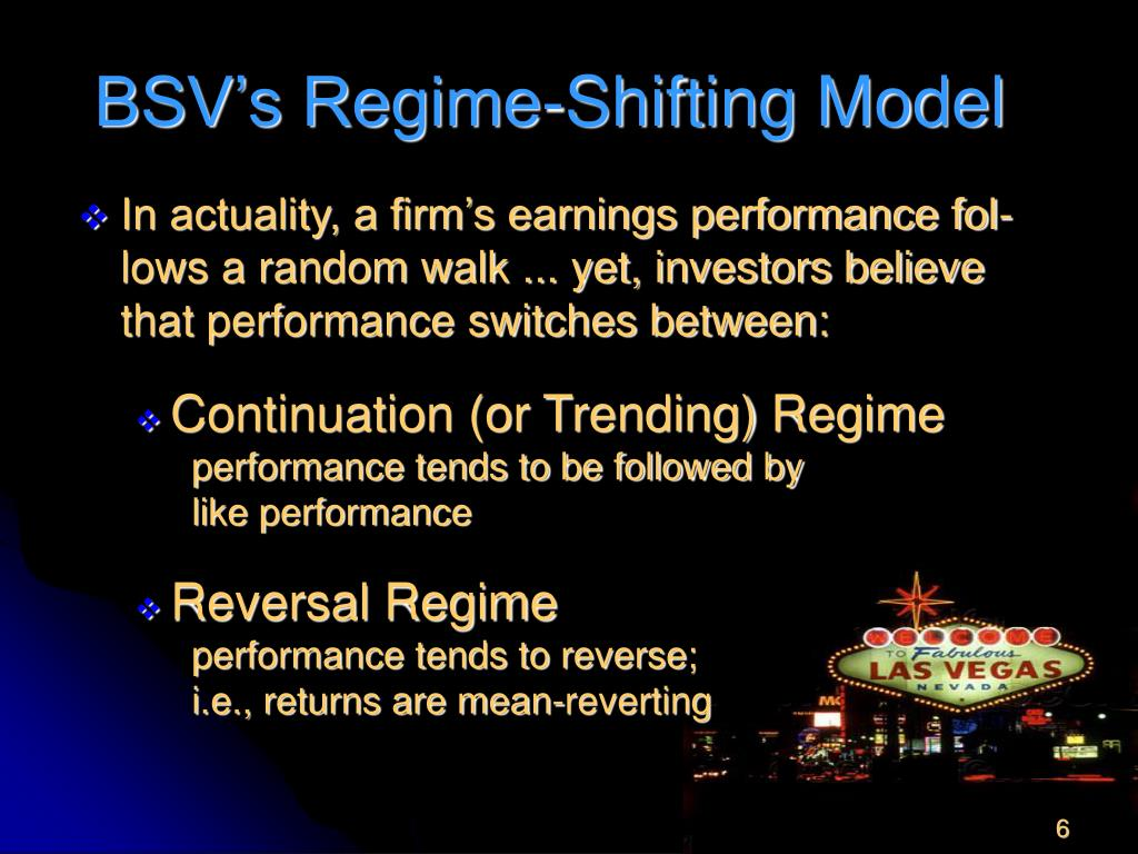 BSV's Regime-Shifting Model