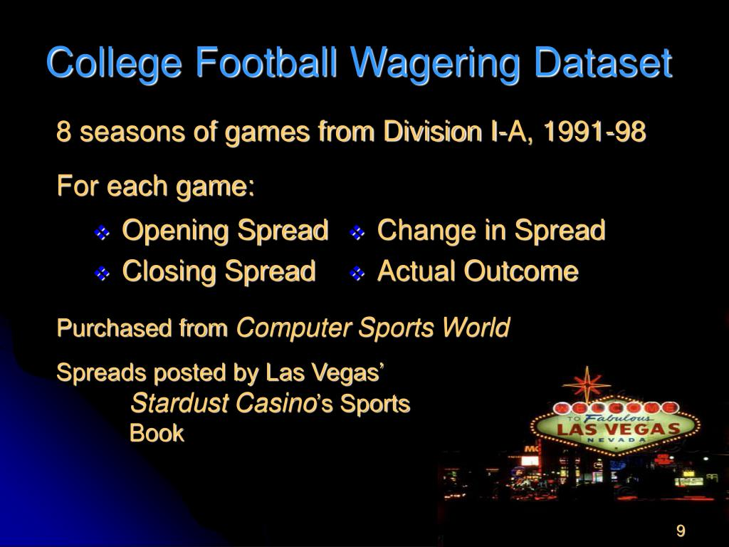 College Football Wagering Dataset