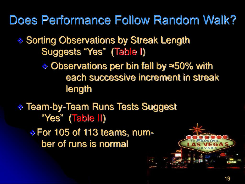 Does Performance Follow Random Walk?